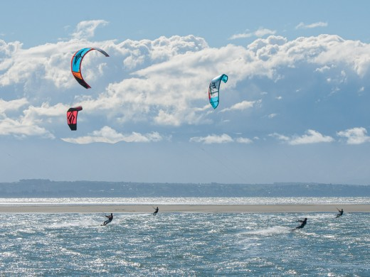 Tahunanui Kite Surfing Blind Channel ,